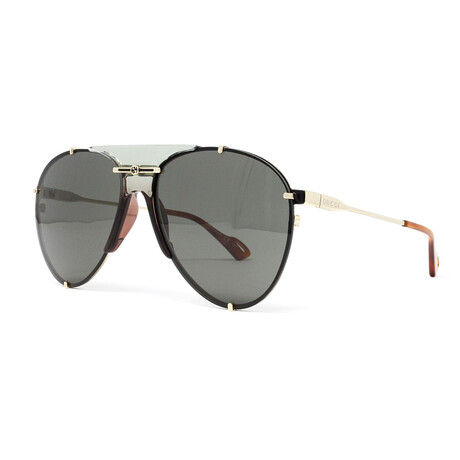 Unisex GG0740S Aviator Sunglasses // Black + Gold