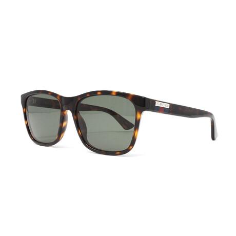 Men's GG0746S Sunglasses // Havana + Green
