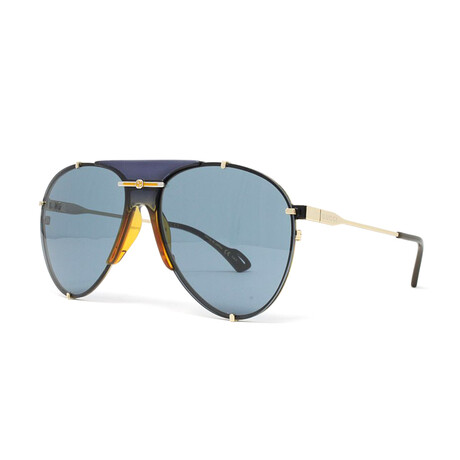 Unisex GG0740S Aviator Sunglasses // Blue + Gold