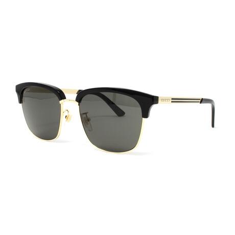 Men's GG0697S Sunglasses // Black + Gold