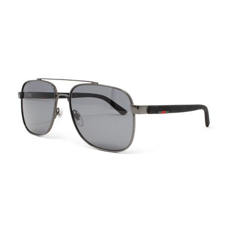 Men's GG0422S Polarized Sunglasses // Ruthenium + Black