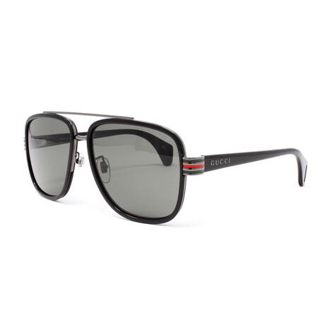 Men's GG0448S Sunglasses // Black + Gray