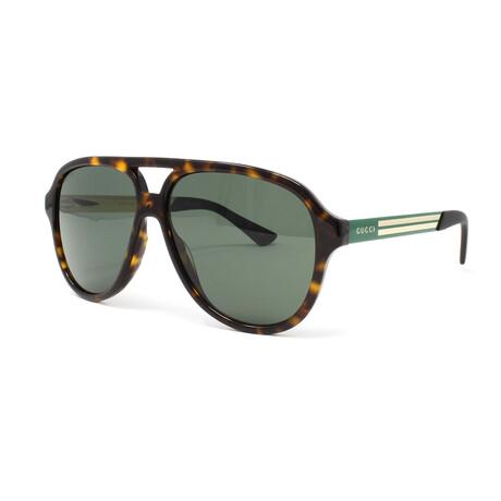 Men's GG0688S Sunglasses // Havana + Green