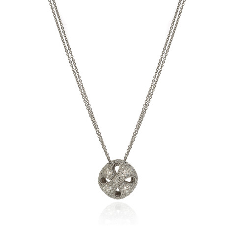 """Damiani // 18k White Gold Diamond Necklace // 20"""" // Pre-Owned"""