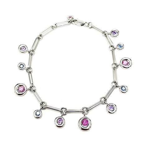 Chaumet 18k White Gold + Sapphire Bracelet // Pre-Owned