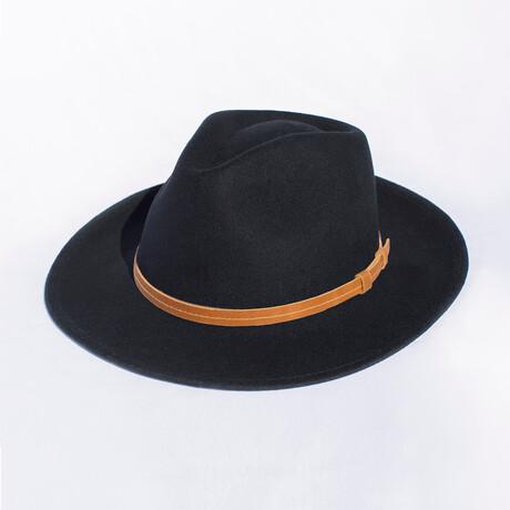 Houston // Black + Leather Headband (S)
