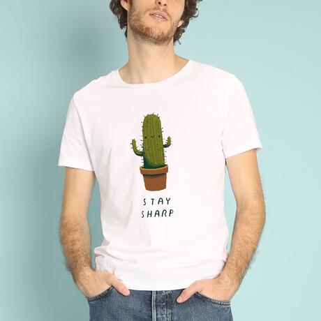 Stay Sharp T-Shirt // White (S)