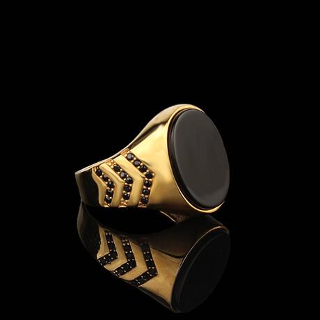 Onyx Ring // Gold + Black (5)