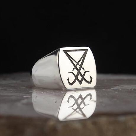 Sigil of Lucifer Ring // Silver (5)