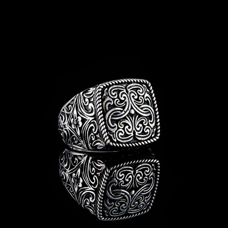 Masculine Entangled Ring // Silver (5)