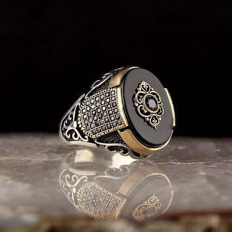 Black Onyx Ring // Black + Silver (5)