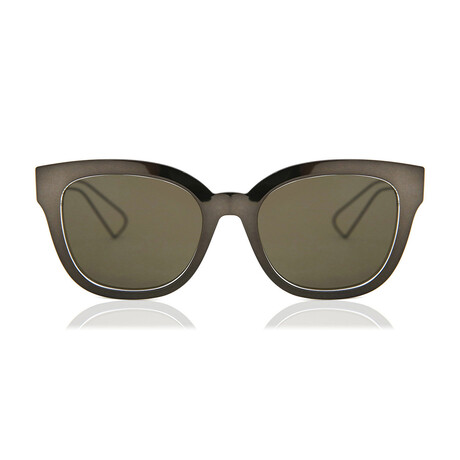Women's DIORAMA1 Sunglasses // Gray + Crystal + Brown
