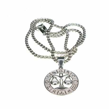 Dell Arte // Libra Pendant Necklace // Silver