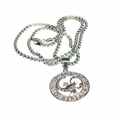 Dell Arte // Scorpio Pendant Necklace // Silver