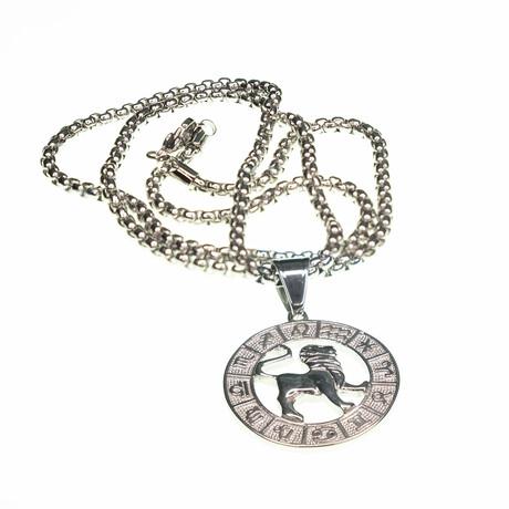 Dell Arte // Leo Pendant Necklace // Silver