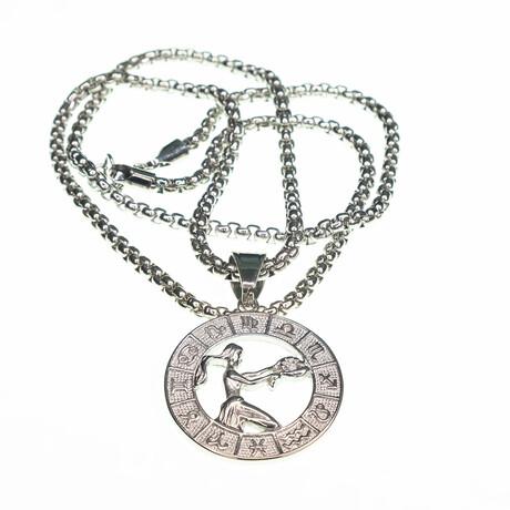 Dell Arte // Virgo Pendant Necklace // Silver