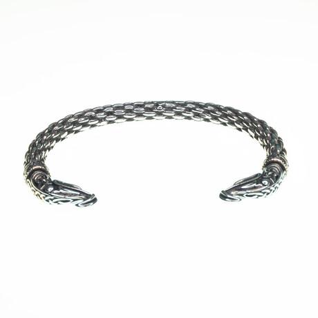 Dell Arte // Lucky Viking Eagle Head Bangle // Silver