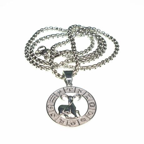 Dell Arte // Aries Pendant Necklace // Silver