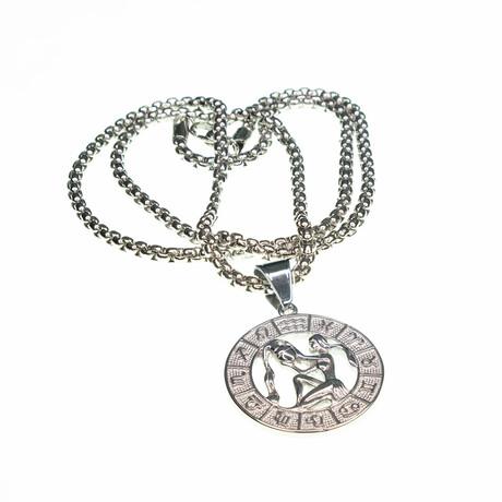 Dell Arte // Aquarius Pendant Necklace // Silver