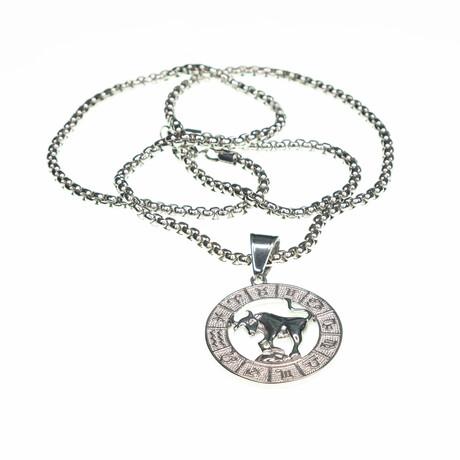 Dell Arte // Taurus Pendant Necklace // Silver