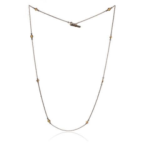 "Konstantino // Artemis Sterling Silver + Garnet Necklace // 34"" // Store Display"
