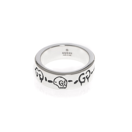 Gucci // Ghost Sterling Silver Ring // Ring Size 3.5 // Store Display