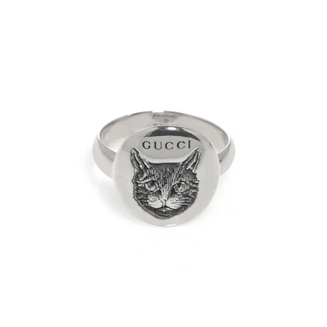 Gucci // Blind For Love Sterling Silver Ring // Ring Size: 4.5 // Store Display
