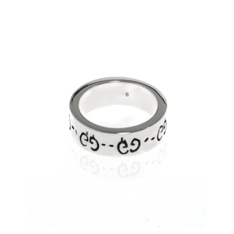 Gucci // Ghost Sterling Silver Ring // Ring Size 4.75 // Store Display