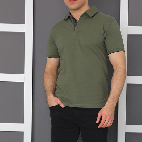 Duval Polo Shirt // Olive Green (Small)