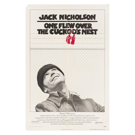 One Flew Over the Cuckoo's Nest 1975 U.S. One Sheet Poster