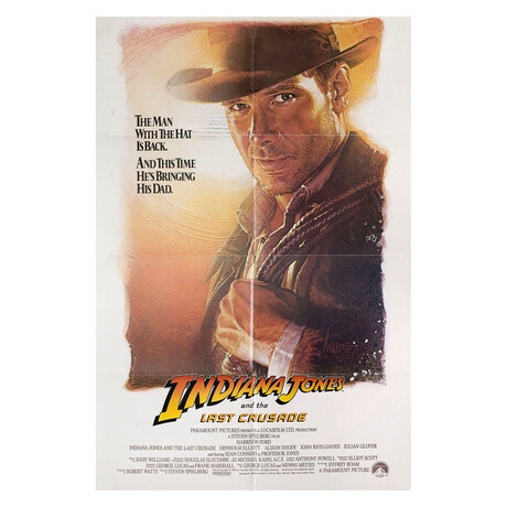 Indiana Jones and the Last Crusade 1989 U.S. One Sheet Poster