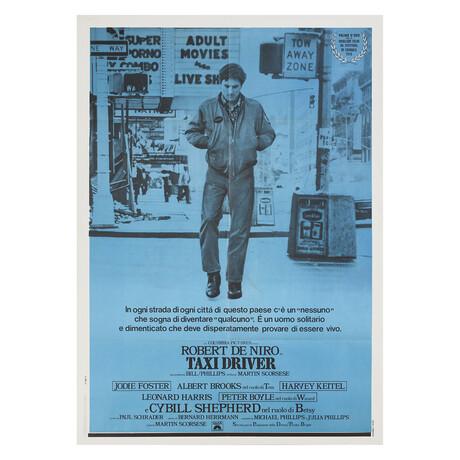 Taxi Driver R1970s Italian Due Fogli Poster