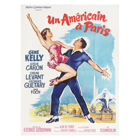 An American in Paris R1960s French Grande Poster