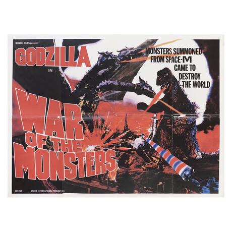 Godzilla Vs. Gigan 1972 British Quad Poster