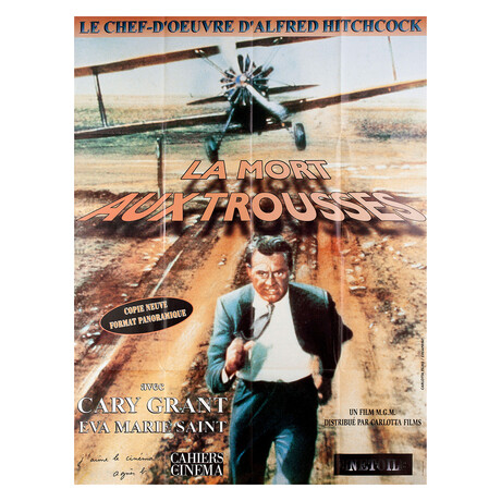North by Northwest R1990s French Grande Poster