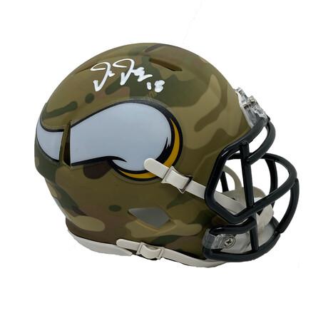 Justin Jefferson // Signed Mini Helmet // Minnesota Vikings