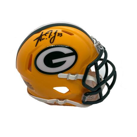 Aaron Jones // Signed Mini Helmet // Green Bay Packers