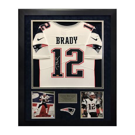 Tom Brady // Signed + Framed Elite Jersey // New England Patriots
