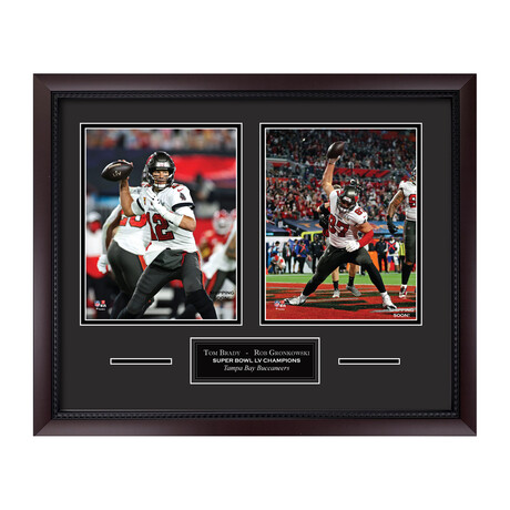 Tom Brady + Rob Gronkowski Ver. 1 // Framed + Unsigned // Tampa Bay Buccaneers