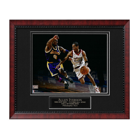 Allen Iverson w/ Kobe Bryant // Framed + Unsigned