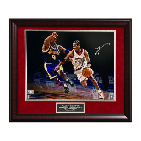 Allen Iverson // Framed + Signed // Philadelphia 76ers