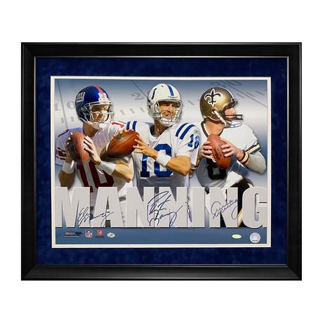 Archie, Peyton & Eli Manning // Framed + Signed