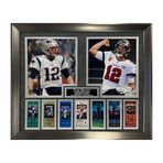 Tom Brady w/ Super Bowl Tickets 2-way // Framed + Unsigned // Patriots + Buccaneers