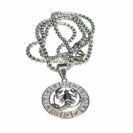 Dell Arte // Cancer Pendant Necklace // Silver