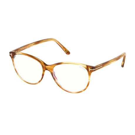 Women's Blue Light Block Optical Cat Eye Frames // Havana