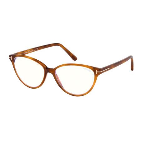 Women's Blue Light Block Optical Cat Eye Frames // Blonde Havana