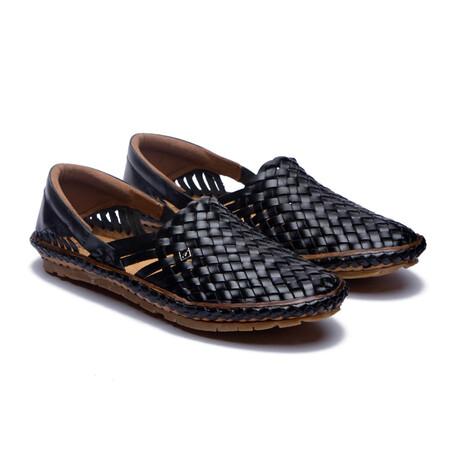 Holas Leather Sandals // Black (US: 7)