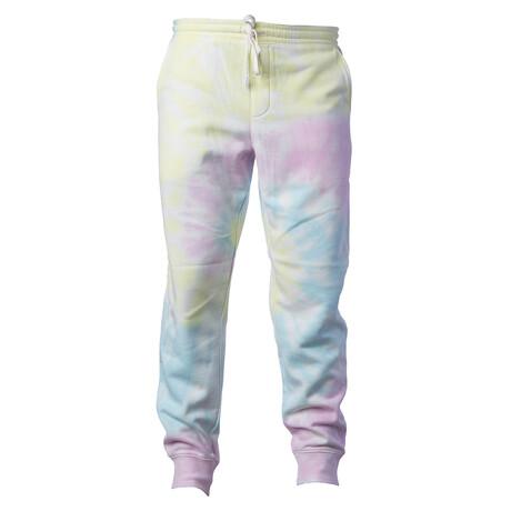 Pigment Dyed Fleece Sweatpants // Tie Dye Sunset (S)