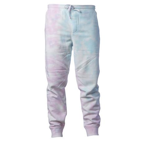 Pigment Dyed Fleece Sweatpants // Tie Dye Cotton Candy (S)