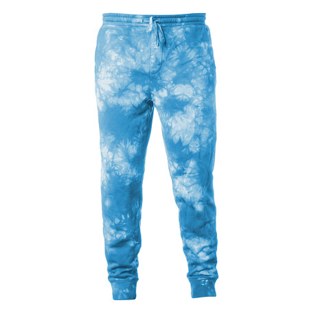 Pigment Dyed Fleece Sweatpants // Tie Dye Aqua (S)